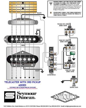 Tele Wiring Diagram with a 3rd pickup added | Telecaster