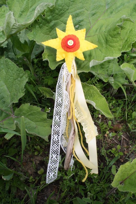 Sun Wand Summer Solstice. This would be a fun craft to