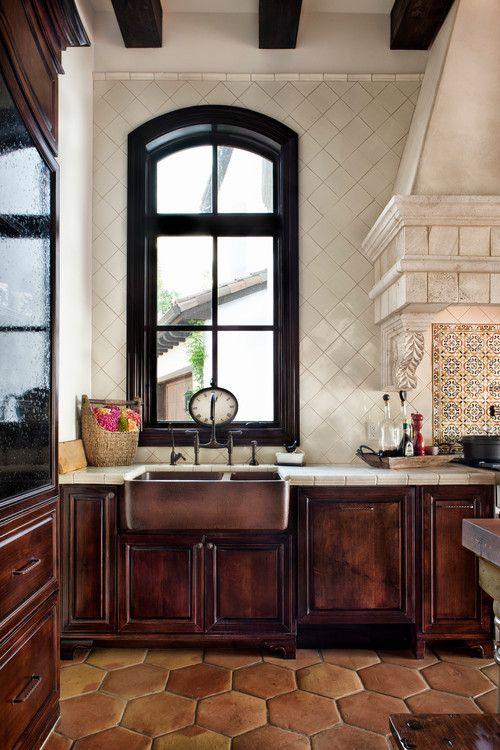 Copper Farm Sink Terracotta Floor And Farm Sink On Pinterest