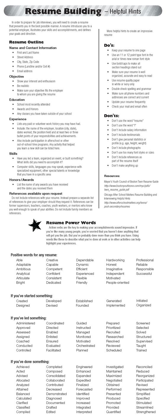 great cheat sheet for improving your resume resumes amp cover