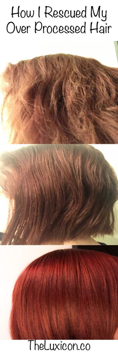 How I rescued my over processed hair.
