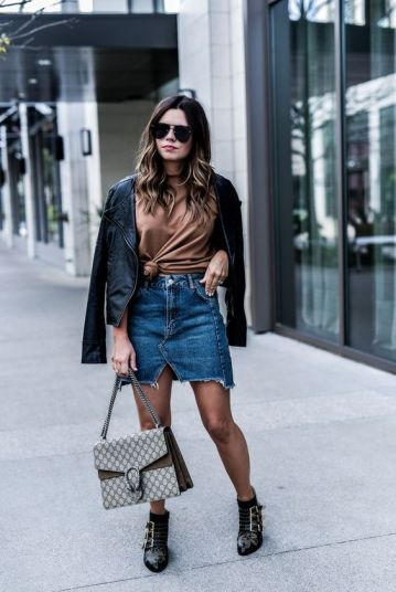 Denim skirts are fashion hacks that make any outfit cute!