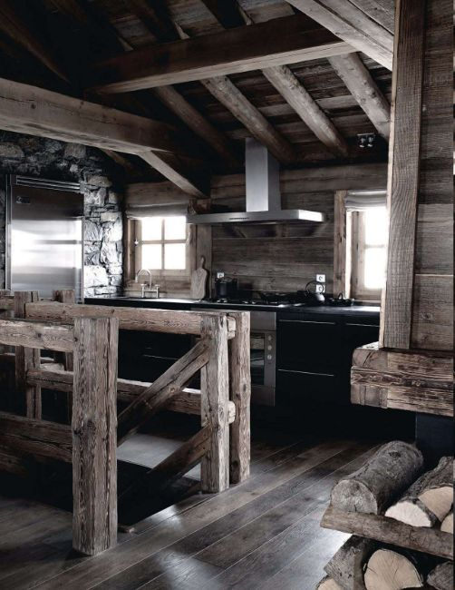 French Chalet House Tour Pinterest Rustic Stairs