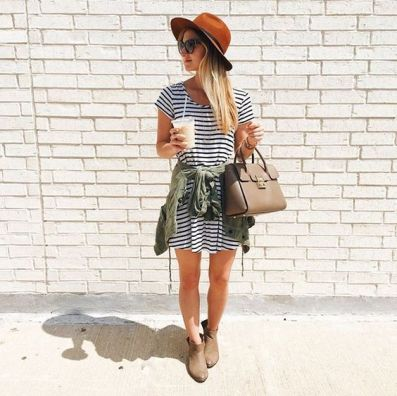 A tshirt dress is the best boho outfits for any trip!