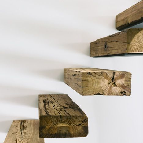 wood, concrete and cork