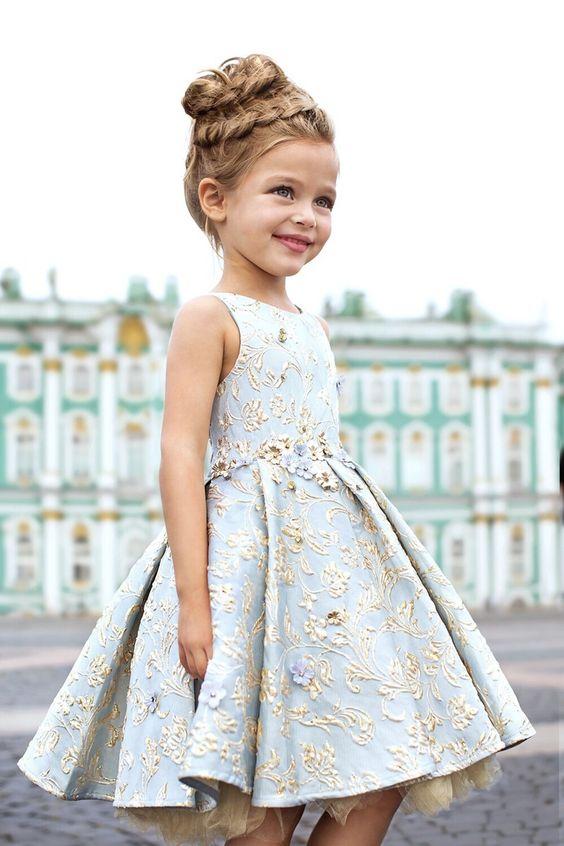 Party Dress Toddler Dress Girls Dress Handmade- Special Occasion Dress