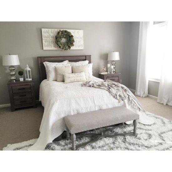 Neutral Rustic Guest Bedroom