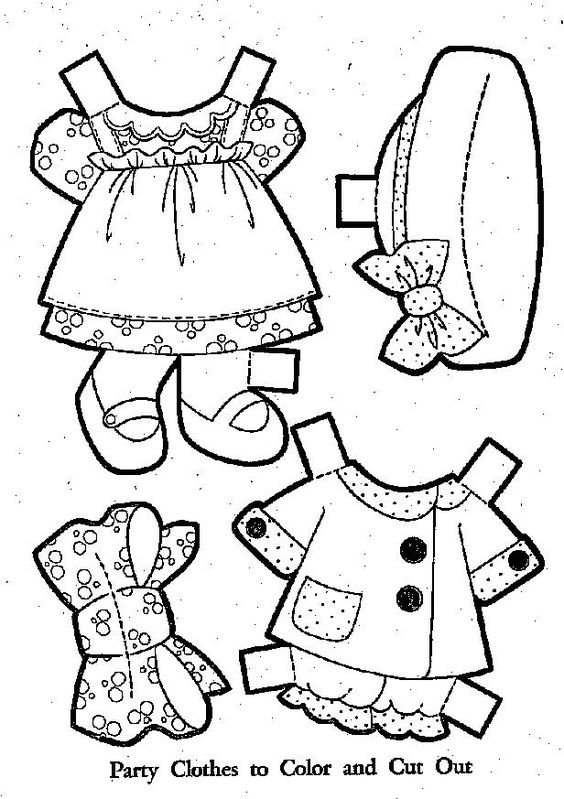 raggedy ann paper dolls and baby doll clothes on pinterest