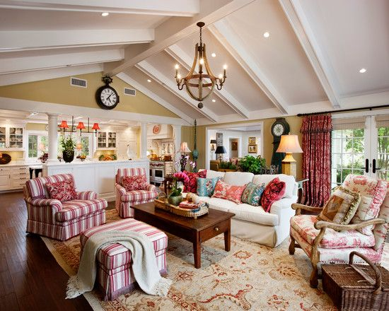 French Country Family/Living Room.....love The Beams On
