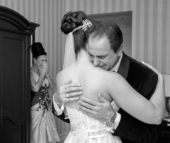 """Why We Love It: Capture your parents' reactions when seeing you for the first time as a bride!Why You Love It: """"This is my favorite one of all. It is beautiful, tender, and depicts all the emotions of that day."""" —Wuendith E. """"What an awesome thing to look forward to! I'm getting married in October, and I know my parents will react the same way."""" —Nadia K. """"This is so touching! They say a picture is worth 1,000 words, and I'd say this one falls into that category."""" —Stephanie B. """"This photo i...:"""