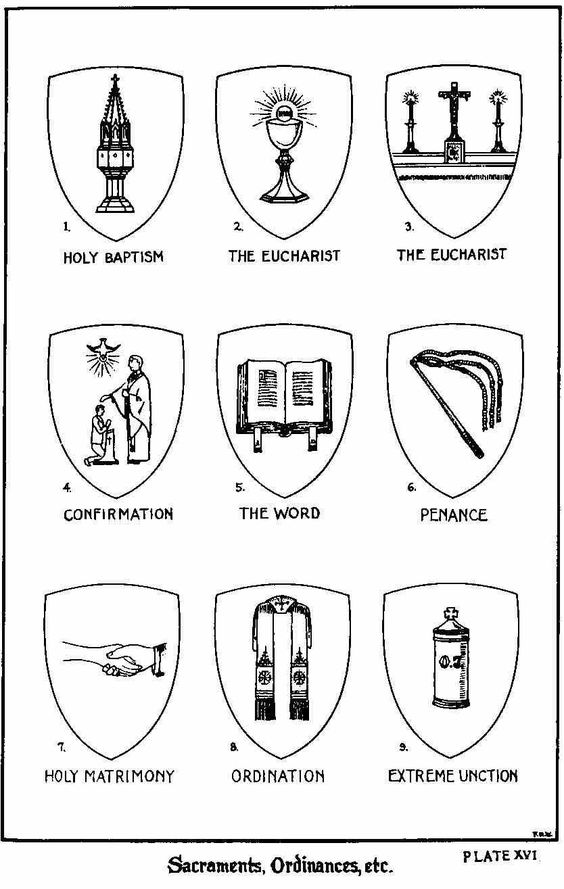 catholic coloring pages and symbols on pinterest