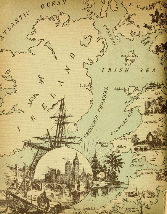 Vintage Map of Ireland Map crafts Pinterest Patrick
