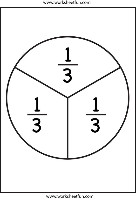 Fraction Circles Templates. teaching fractions fractions and ...