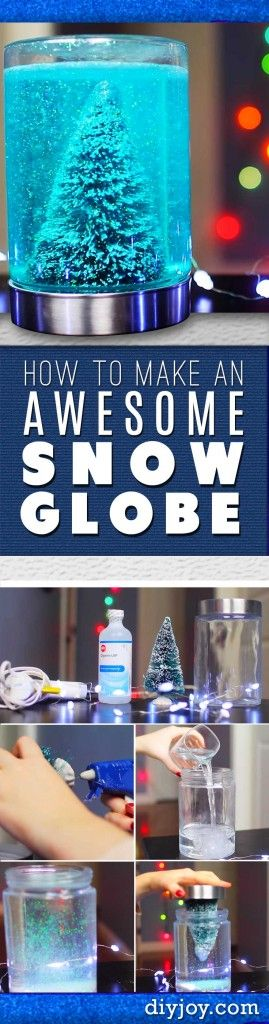 DIY Christmas Decorations - Homemade Christmas Crafts - How To Make A Snow Globe in A Mason Jar Tutorial: