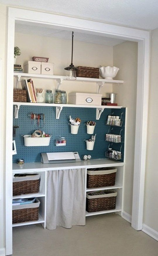 Small Space Inspiration: 10 Closets Turned Workspaces & Home Offices | Apartment Therapy: