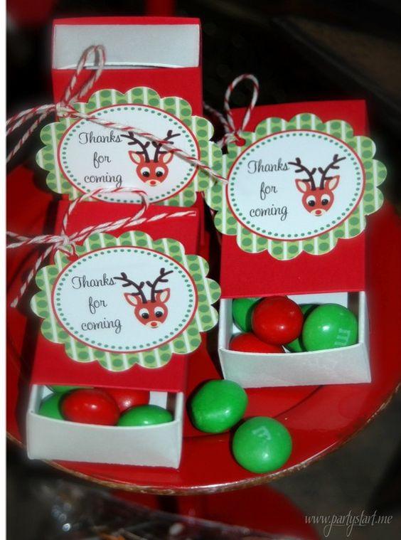 Reindeer Treat Matchboxes Gift Giving Pinterest