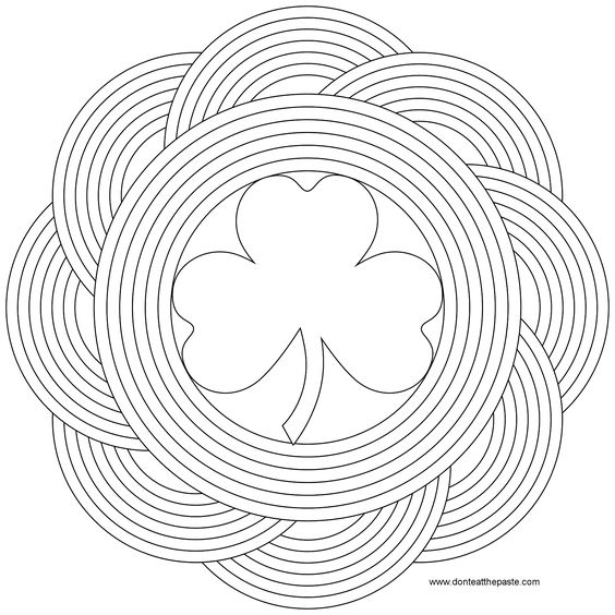don 39 t eat the paste simple shamrock and rainbow mandala to color