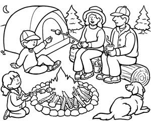 summer coloring pages coloring pages and camping on pinterest