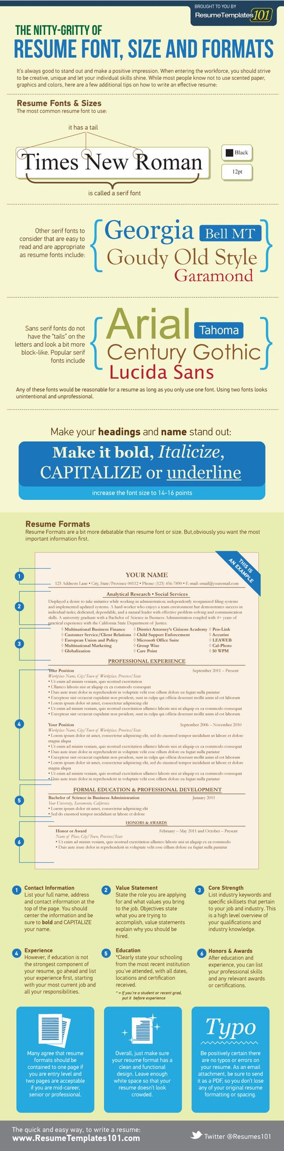 resume resume fonts and fonts on pinterest
