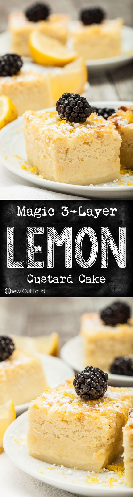 Magic 3-Layer Lemon Custard Cake Recipe via Chew Out Loud - This was truly special! One batter = data-recalc-dims=