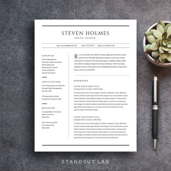 resume cover letters and resume templates on pinterest
