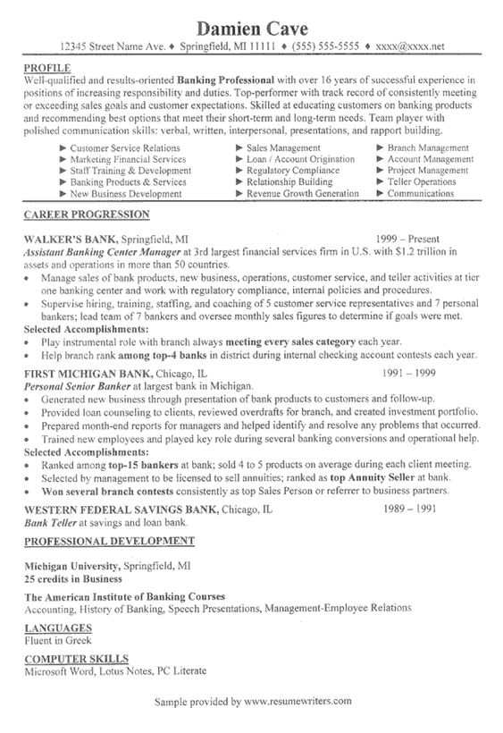 sales manager resume banking executive manager resume template