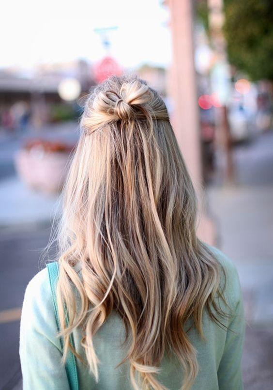 Messy Bowbun Half Up Half Down Do Hair Amp Beauty