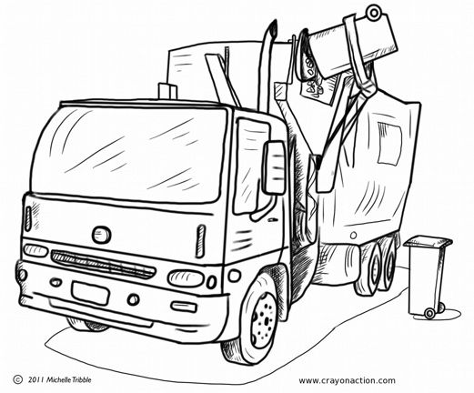 garbage truck coloring pages for kids and coloring pages on pinterest