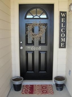 Front Door house numbers vinyl lettering by piccadillypeddler: