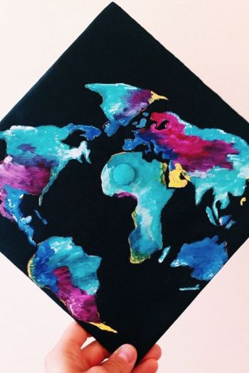28 Graduation Cap Ideas For Students With Serious Wanderlust: