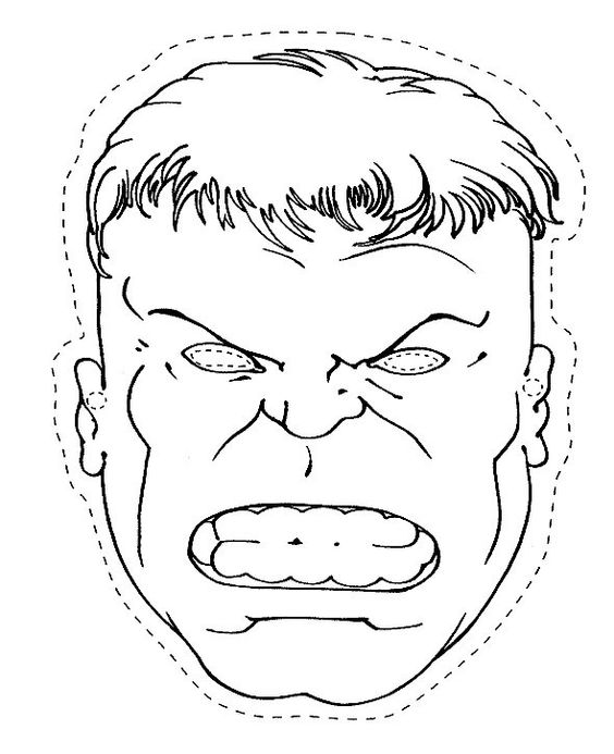 hulk the head and coloring pages on pinterest