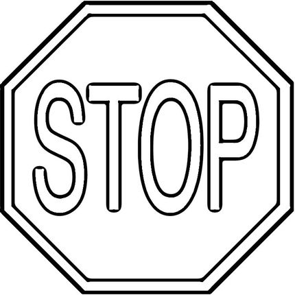 stop signs signs and coloring pages on pinterest