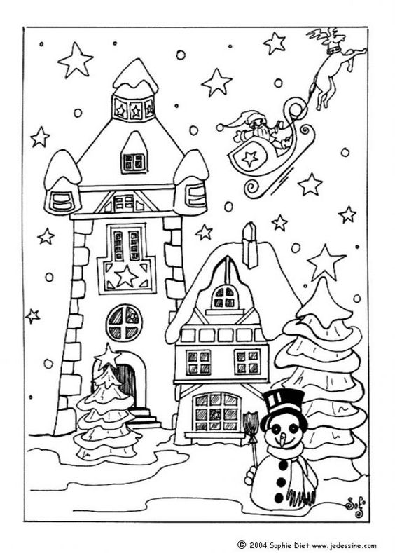 christmas villages coloring pages and coloring on pinterest