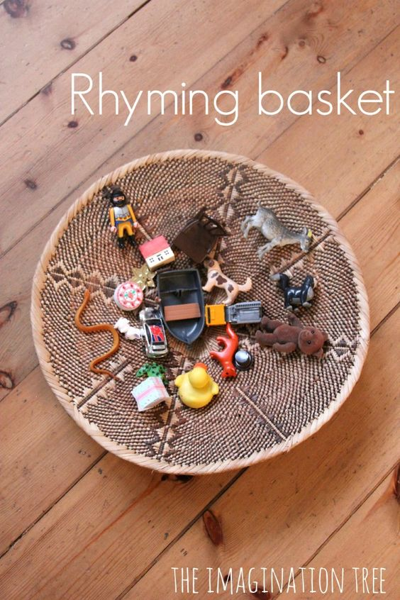 Rhyming Pairs Basket Literacy Game Literacy games, For