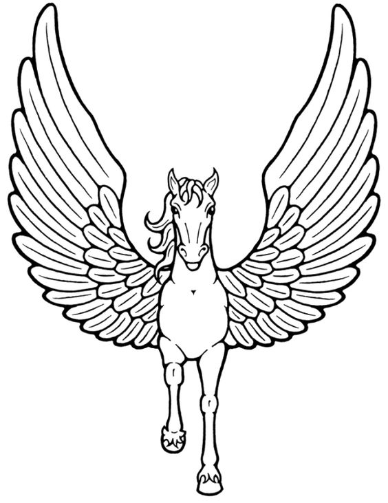 coloring pages wings and unicorns on pinterest