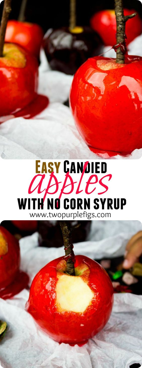 Easy Candied Apples Recipe Pinterest Sweet