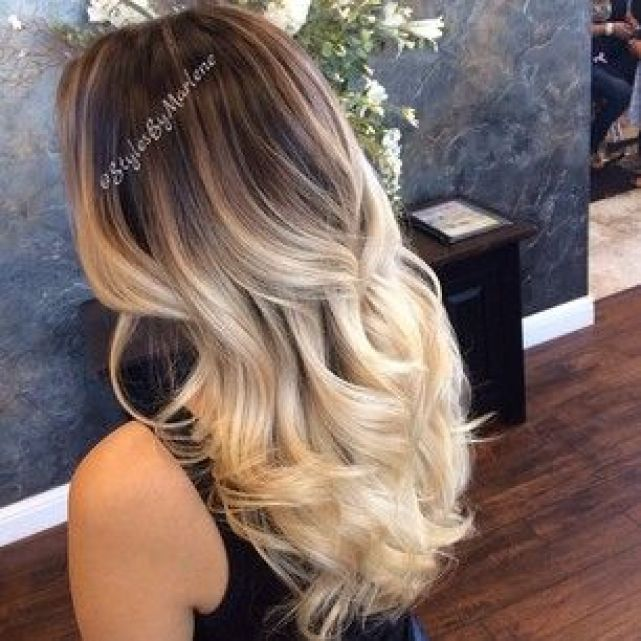 dark blonde ombre: