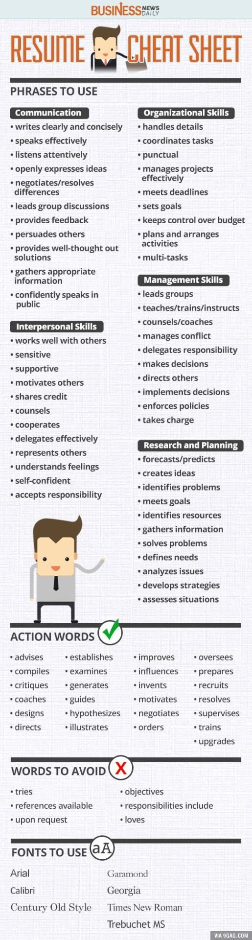 resume thank me later and resume words on pinterest