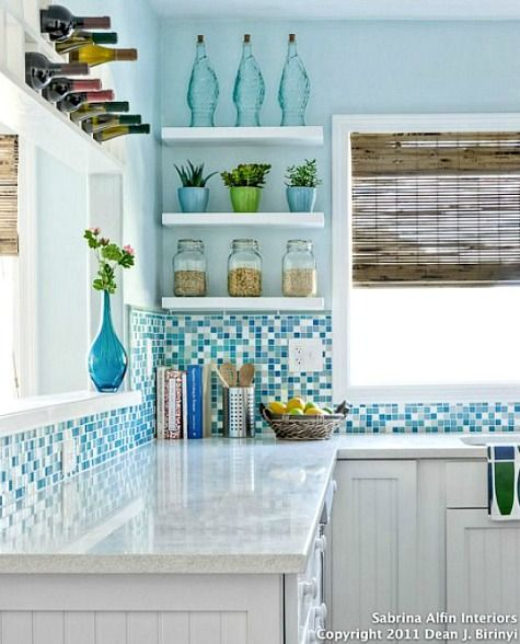 Blue kitchen tiles ideas. kitchen vintage style kitchen design ...