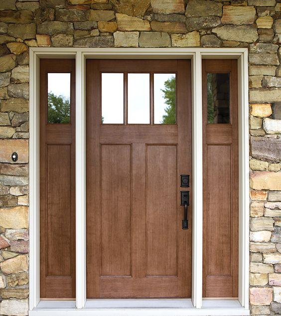 Exterior Doors Craftsman Style Fir Textured Fiberglass