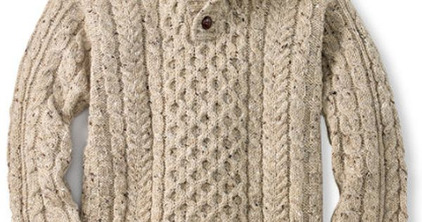 LL Bean Irish Fishermans Sweater