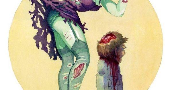 Midnight Snack- Sexy Zombie Pin-Up Art Print