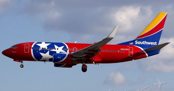 Southwest Airlines Boeing 737 7h4 N922wn Quot Tennessee One