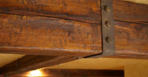 Distressed Rustic Wood Beam Rustic Beam Hardware Beams