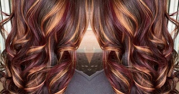 Plum Amp Copper Highlights Chocolate Brown Base Pinteres