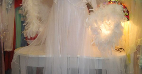 CHIFFON Vtg Style DRESSING GOWN Peignoir FEATHER/MARABOU