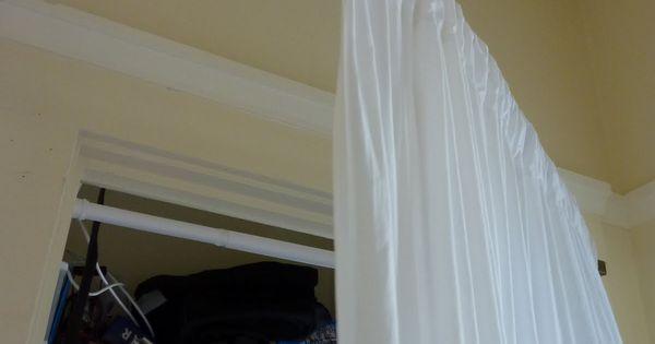 Swing Arm Curtain Rod For Closet Space Ideas Pinterest