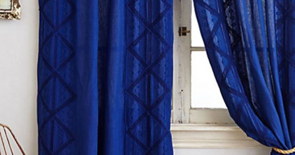 Appliqued Lace Curtain Royal Blue Curtains Blue Shower Curtains And Living Rooms