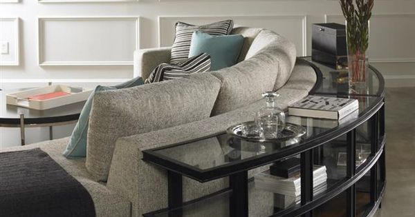 Love The Round Sofa Table From Vanguard Furniture ROOM RENOVATION Pinterest Round Sofa