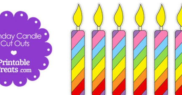 Free Birthday Candle Template